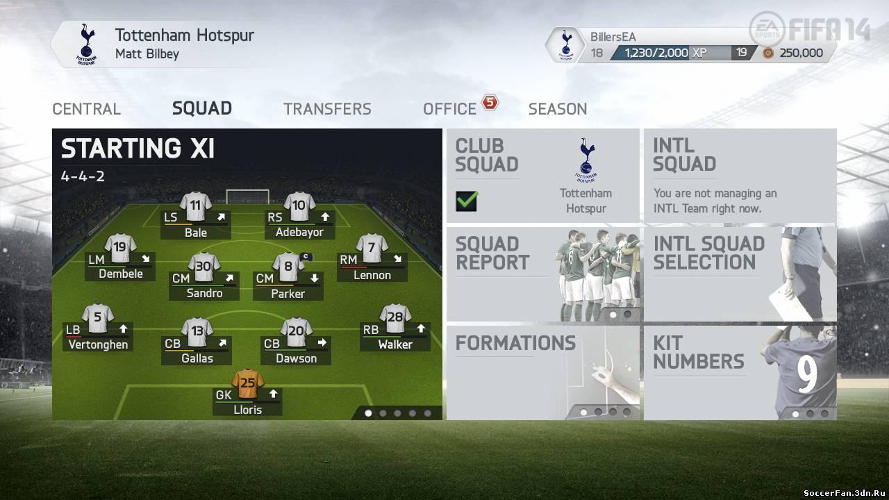 Режим карьеры в FIFA 14
